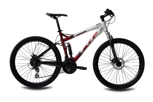 "26"" KCP MOUNTAINBIKE FAHRRAD RAD VETRON ALU 4 LINK mit 24 Gang ACERA weiss rot - 66,0 (26 Zoll)"
