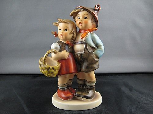 Hummel Figurines - Mother and Grandmother had a ton of these! The most special a music box that I was allowed to touch and turn... listening to the music tinkle away while mom dallied around the room.