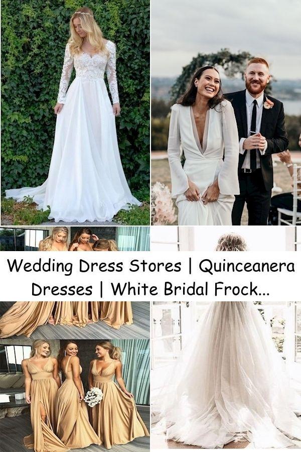Wedding Dress Stores Quinceanera Dresses White Bridal Frock In 2020 Wedding Dress Sequin Wedding Dresses Wedding Dress Store