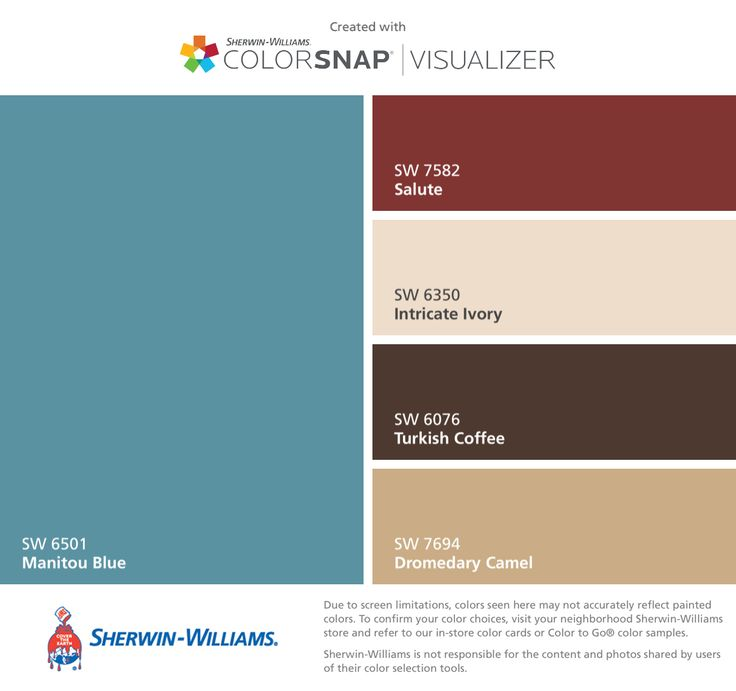 I Found These Colors With Colorsnap Visualizer For Iphone By Sherwin Williams Manitou Blue Sw