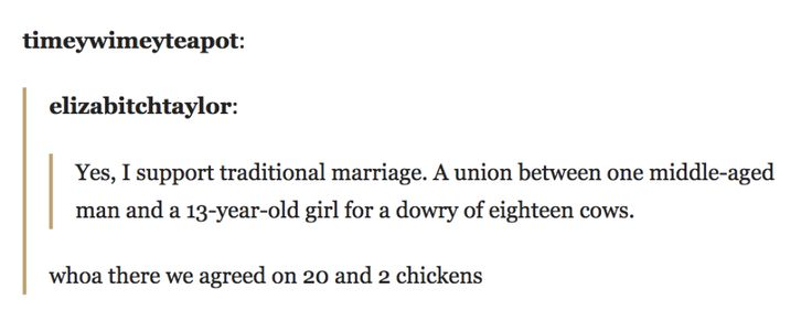 "And finally, this important lesson about ""traditional"" marriage:"