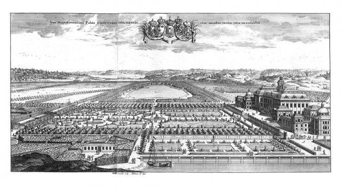 Drottningholms slott, ur boken Suecia Antiqua et Hodierna av Erik Dahlbergh