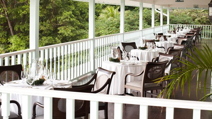 Sugar Beach St lucia - The terrace of The Great Room elegant dining restaurant