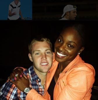 Sloane Stephens with her boyfriend Jack Sock