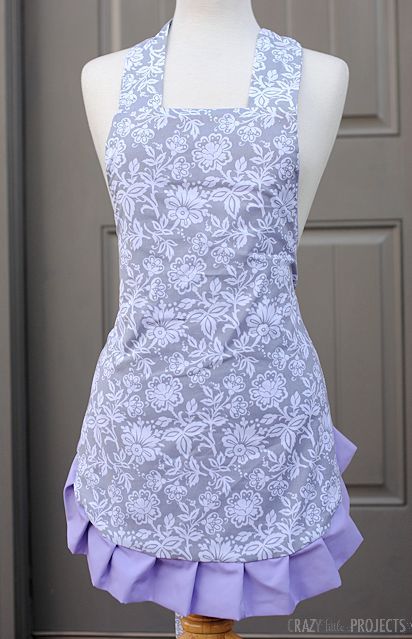 I love baking and I love sewing, so some of my very favorite things to sew are aprons. I have several apron patterns that I love, but this is the one that I make most often. It's a cute, ruffled, f...