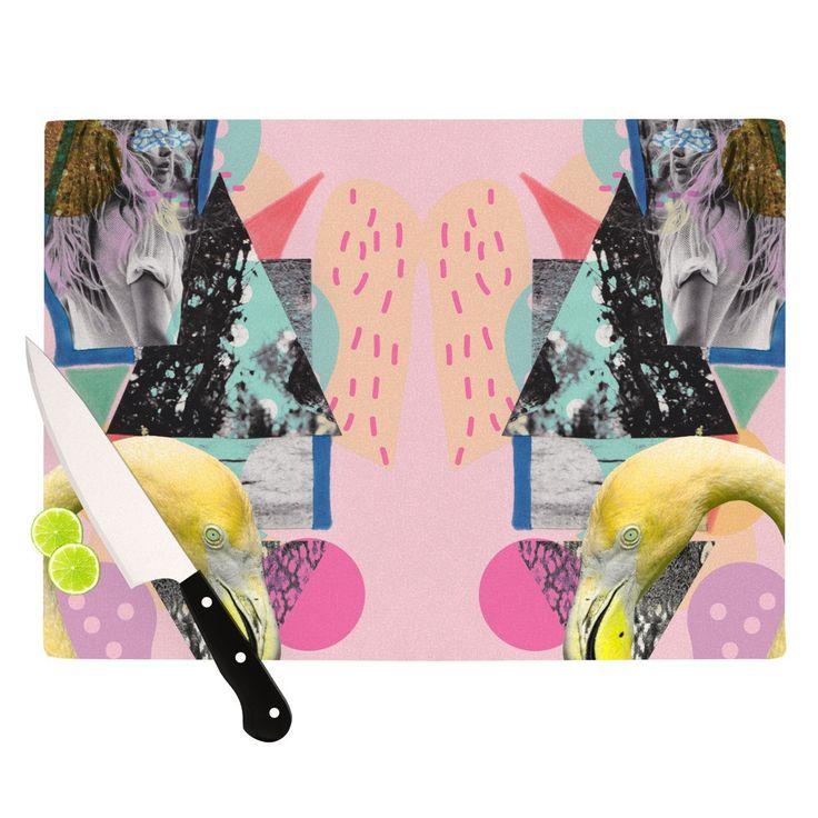 "Vasare Nar ""Flamingo Tropical"" Cutting Board"