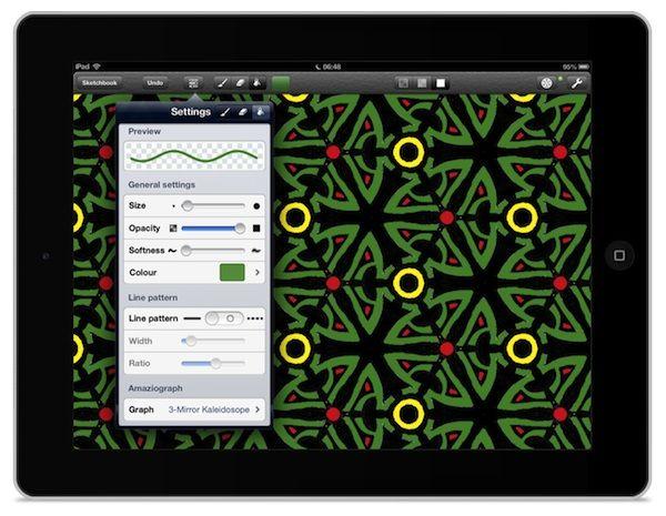 Amaziograph dla iPada czyli mozaiki jak w kalejdoskopie http://myap.pl/fz