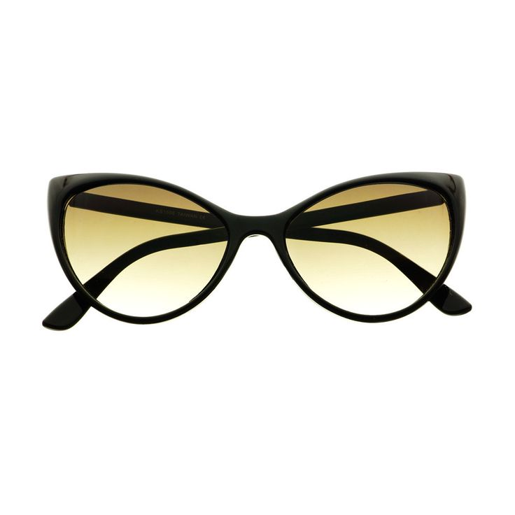 Vintage Retro Fashion Tip Pointed Large Womens Cat Eye Sunglasses C75 - FREYRS - Beautifully designed, cheap sunglasses for men & women  - 1