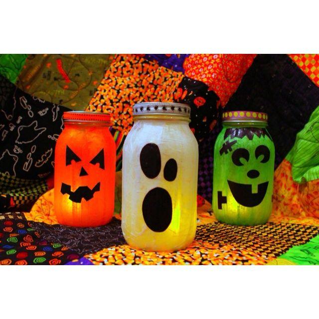 halloween mason jars | Halloween mason candle jars