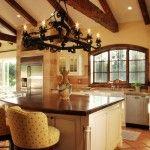 love the beams in the ceilings that create that santa fe look