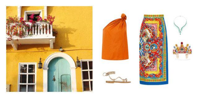 """Golondrina Viajera"" by venus-in-fleurs on Polyvore featuring moda, K. Jacques, Dolce&Gabbana, Summer, dolceandgabbana e summersandals"