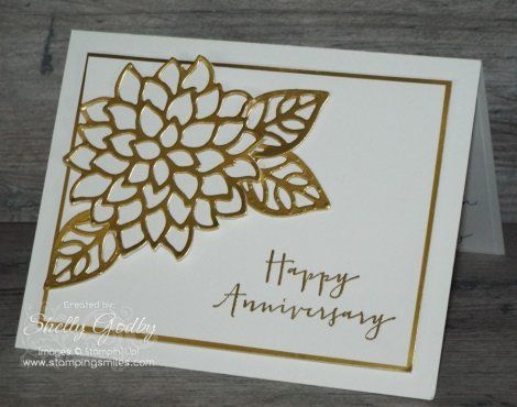 Th golden wedding anniversary card for