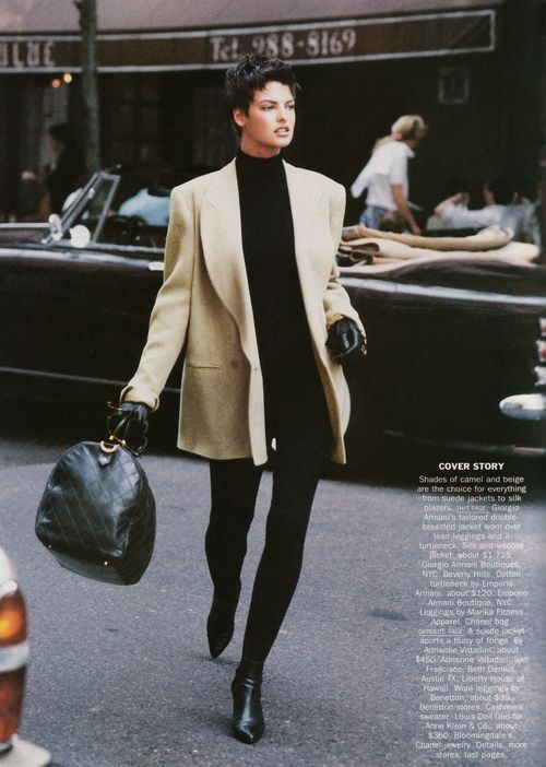 Technically '89, but it would work today. Linda Evangelista in Armani. #timeless