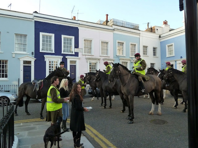 The Household Cavalry drop in for breakfast
