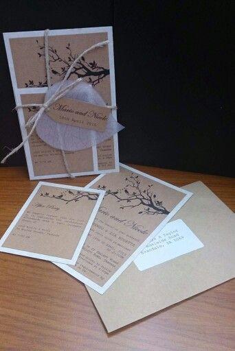 Vintage love birds wedding invitation.  For more invitations, decorations and other wedding stationary visit: www.frommissywithlove.com