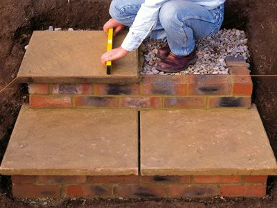 How To Build Brick And Paver Stairs Read More If And Basic