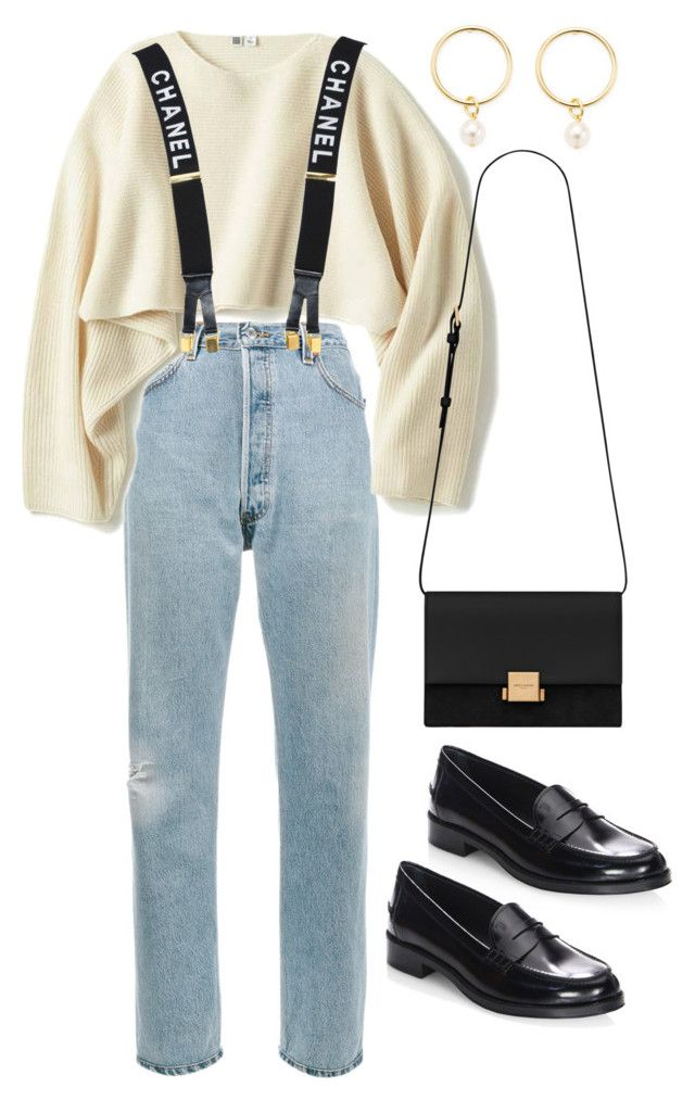 """Sin título #2391"" by alx97 ❤ liked on Polyvore featuring RE/DONE, Uniqlo, Chanel, Renvy, Tod's and Yves Saint Laurent"