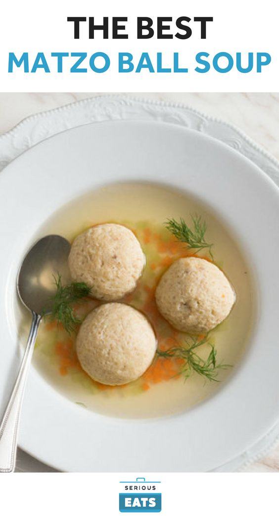 Every family has their own recipe for matzo balls, and we're not here to say that any one version is the best. By adding varying amounts of seltzer, baking powder, and beaten egg whites you can make the dumplings dense sinkers or light as air. We like to poach the balls in chicken stock, then use fresh stock for serving (the poaching liquid gets cloudy).