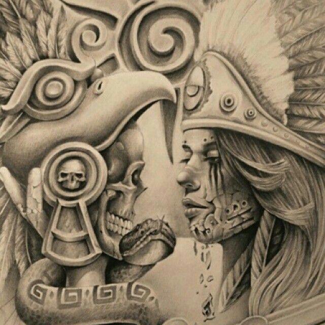 148 best cultura sure a mexicana images on pinterest aztec tattoo designs latin tattoo. Black Bedroom Furniture Sets. Home Design Ideas