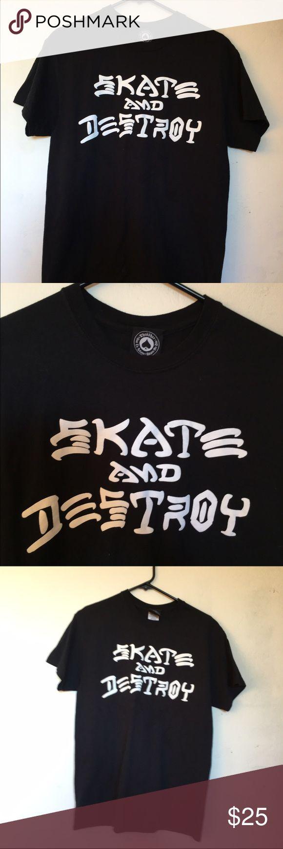 Selling this Black/White Skate and Destroy Thrasher on Poshmark! My username is: marlenegonzlez. #shopmycloset #poshmark #fashion #shopping #style #forsale #Thrasher #Tops