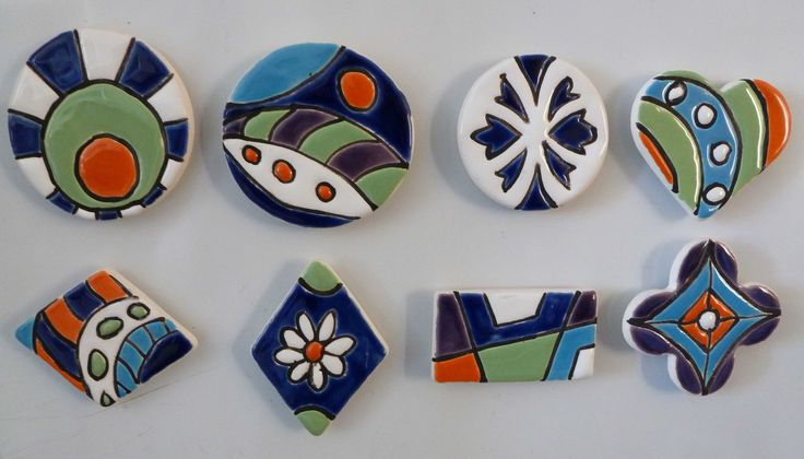 Imanes en cerámica técnica cuerda seca