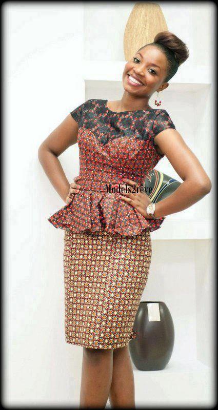 Model de veste en wax pour femme