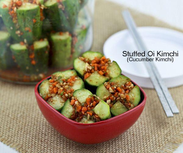 Stuffed Oi Kimchi (Cucumber Kimchi)
