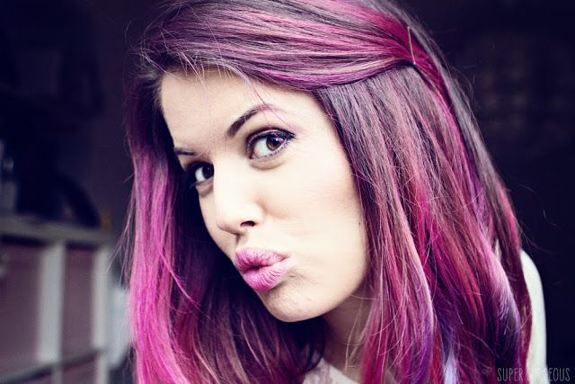 This is how I want it coloured, but plum purple colour. I love how it is sort of ombre, but creeps up more in highlight form.