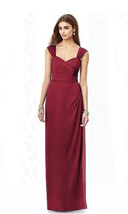multi way #red #bridesmaid