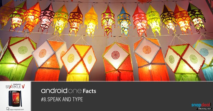 Android One Fact #8. Speak and Type!!!  Get it here: http://bit.ly/-SparkleV