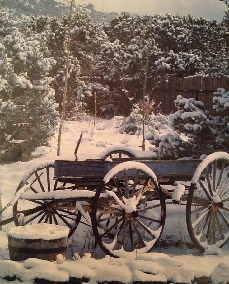 wagon in winter