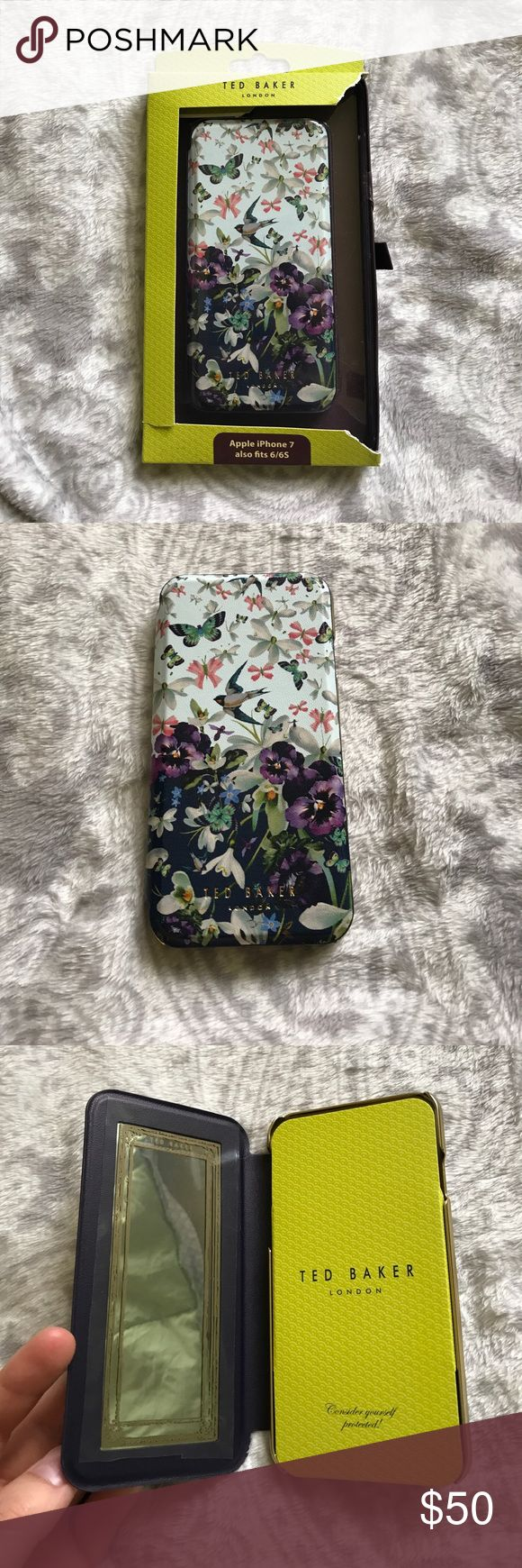 TED BAKER book-style phone case iPhone 7 (also fits 6/6s) TED BAKER book-style phone case. I have never used this phone case as it is still in the packaging.  Bought from the TED BAKER store in Las Vegas. Ted Baker London Accessories Phone Cases