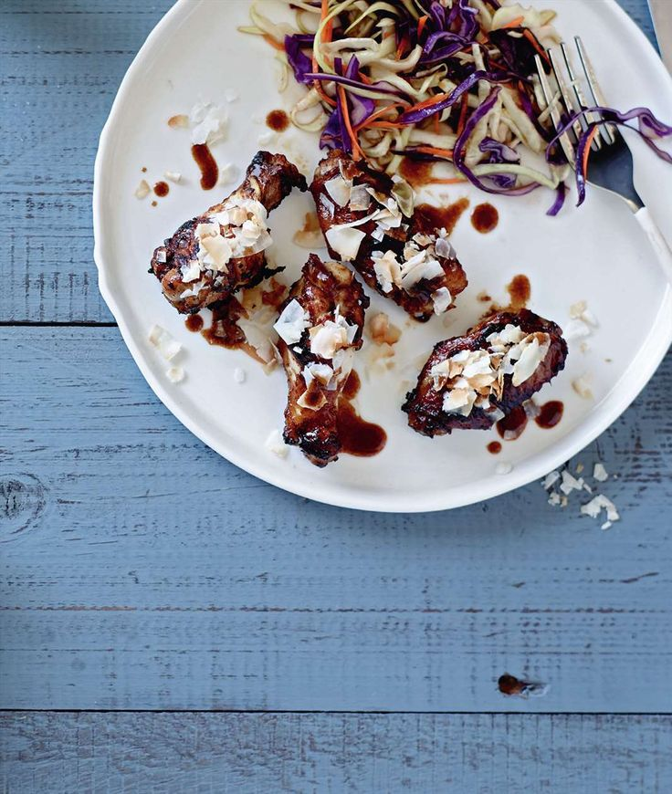 Coco-nutty chicken wings by Jane Kennedy from One Dish. Two Ways | Cooked