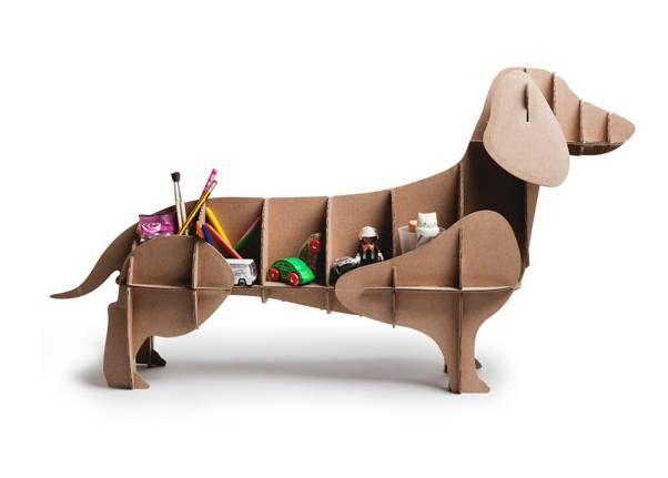 'dachshund' cardboard dog storage by thelittleboysroom | notonthehighstreet.com