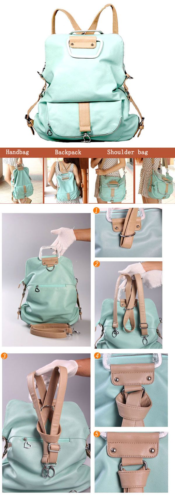 I am so happy to find the Unique Fresh Multifunction Backpack & Handbag & Shoulder Bag from ByGoods.com. I like it <3!Do you like it,too?