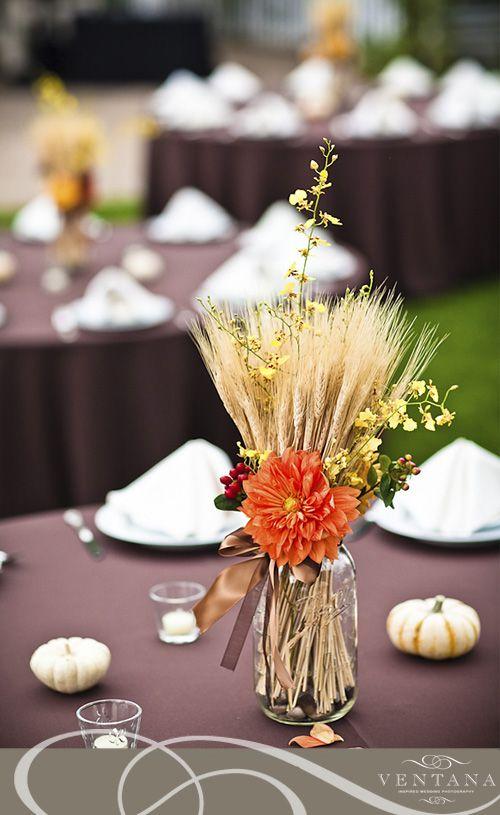 Best wheat centerpieces ideas on pinterest fall