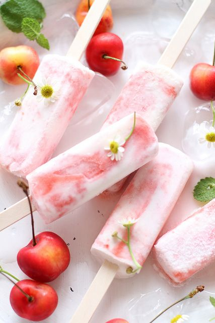 Cherry Popsicles