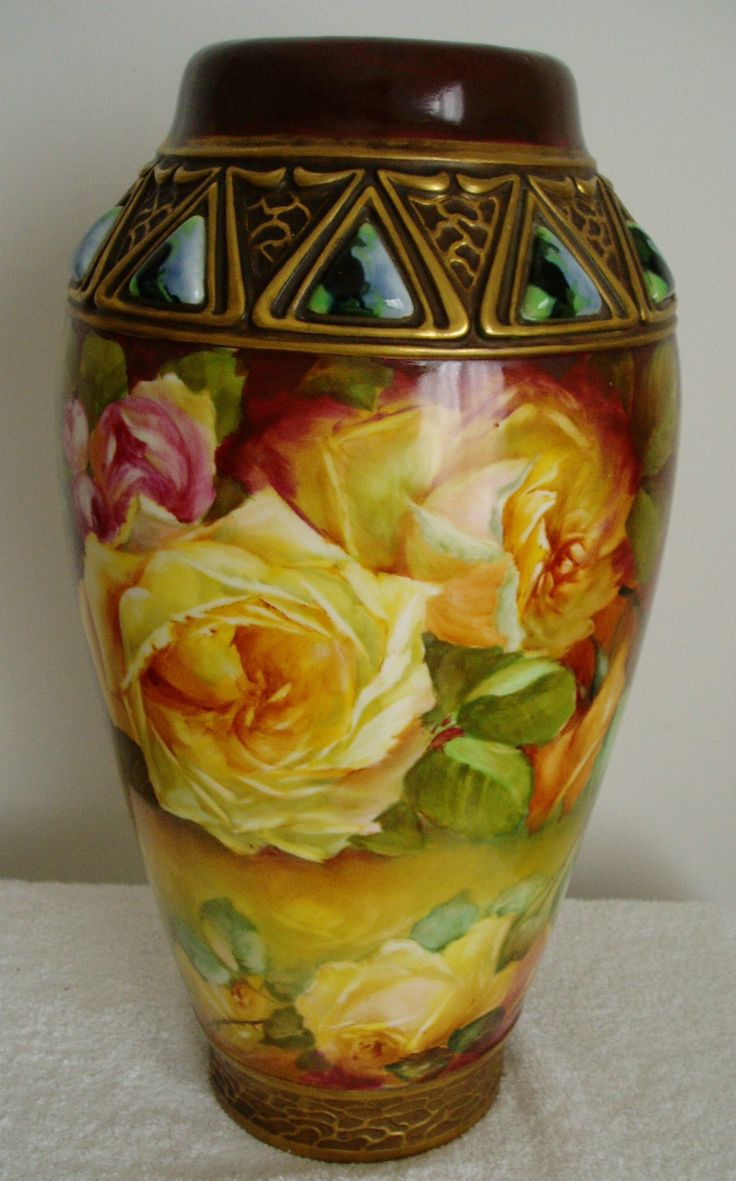 Habsburg Austria Vintage Large Art Pottery Vase Hand