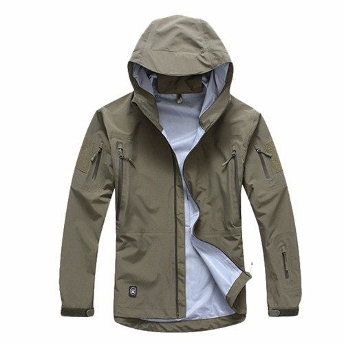 Casual Solid Turn Down Collar Polyester Jacket For Men. #MenJacket #MehdiGinger