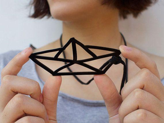 Origami barca spedizione gratuita collana di WinkShirtShop su Etsy