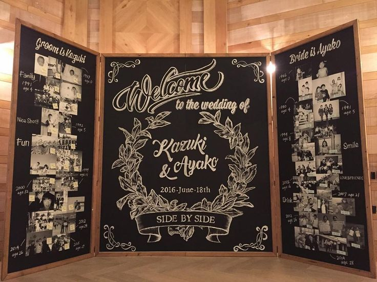 Welcome Board/Chalk  #trunkbyshotogallery#shibuya#wedding#photobooth#handmade#diy#chalkboad#weddingsign#結婚式#結婚式場#高砂#フォトブース#プレ花嫁#ハンドメイド#インテリア#ウェルカムボード#チョークアート#男前インテリア