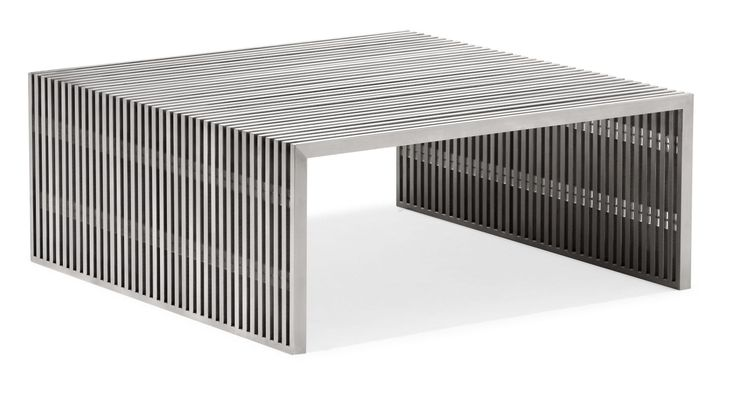 Zuo Modern Novel Square Coffee Table Novel Square Coffee Table Brushed Stainless Steel Furniture Tables Coffee Tables