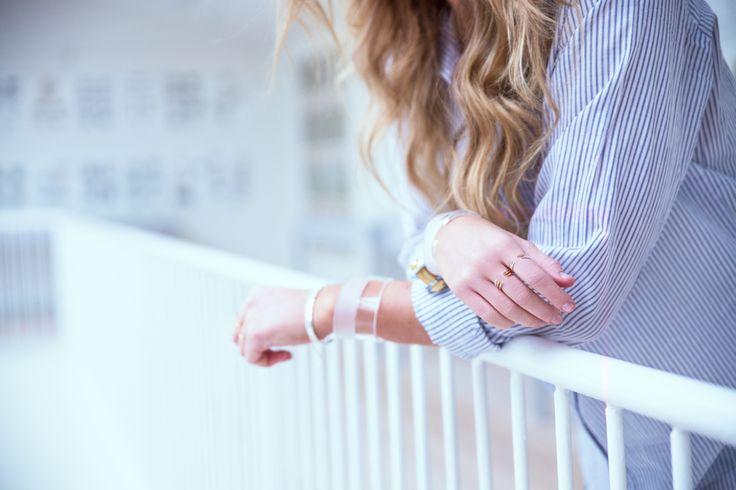 Cooee design look-book Plexi cuffs, rings & bracelets silver Designer Catrine Åberg