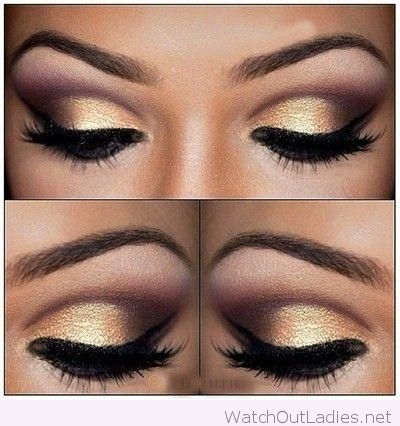 Gold and cranberry make-up inspiration