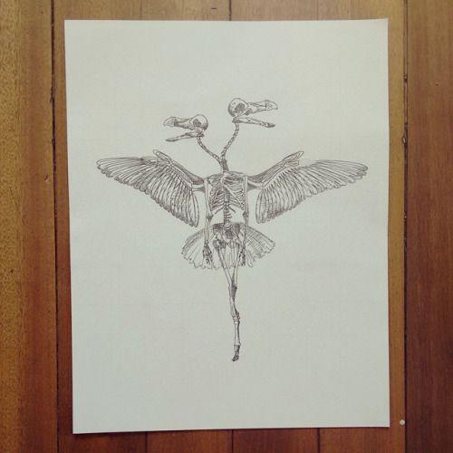 """De la serie 2"""" Original Vs Copia: """" No soy yo eres tu """" """" Original de la copia. #ink #skeleton #wings #drawing #art #Himallineishon"""