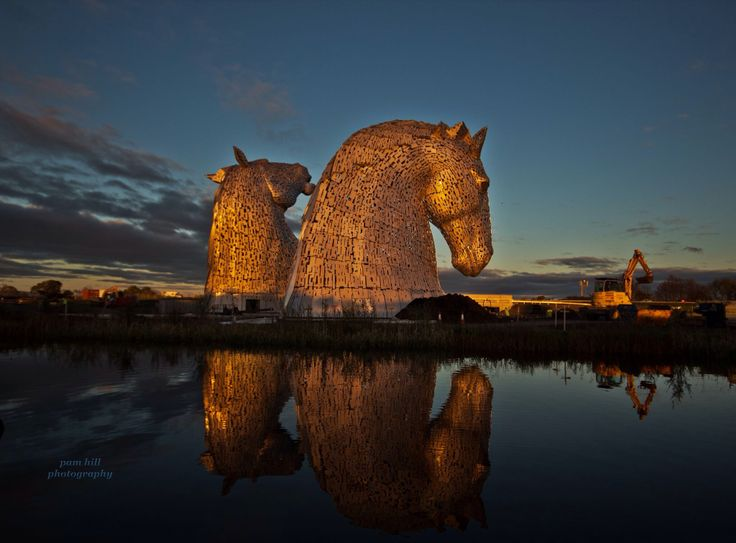 The Kelpies, Falkirk - a mythical race of water horses - must go and see them - not yet open to the public.