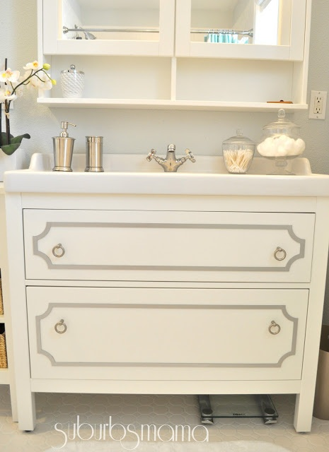 Photo Album Gallery Suburbs Mama Master Bathroom Reveal hacked and beautiful IKEA bath vanity