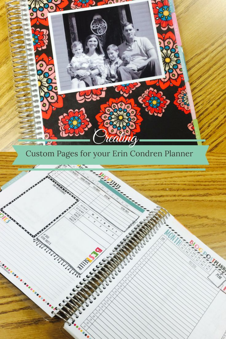 Adding Pages to an Erin Condren Planner - how to create the perfect planner!  Step by step directions and pictures to help guide you through the process.