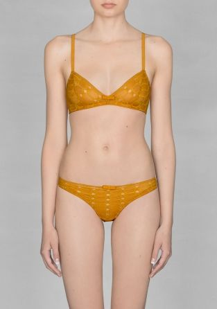 & Other Stories - Mustard Yellow Soft Cup Bra