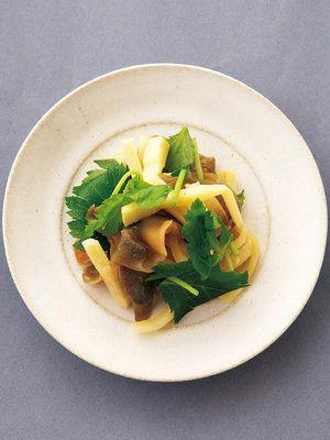 【ELLE a table】たけのことザーサイのごま油炒めレシピ|エル・オンライン
